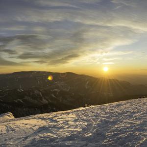 Západ slnka na Suchom