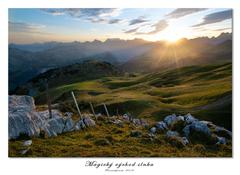 Magický východ slnka