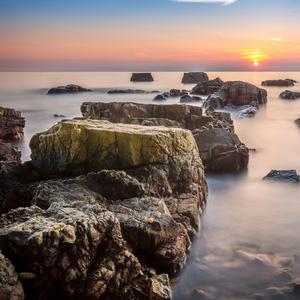 morský západ slnka