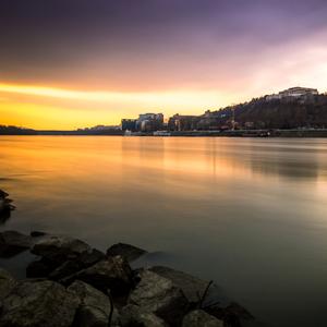Západ slnka v Bratislave