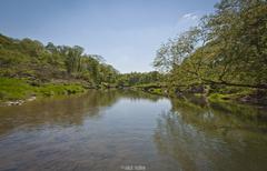Krásny jarný deň nad riekou.