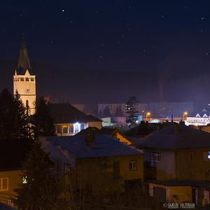 Nočné mesto Stropkov.