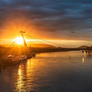 Bratislava sunset.