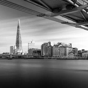 The Shard a Millennium Bridge
