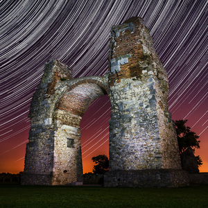 Carnuntum under star trails