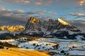 Západ slnka alpe de siusi