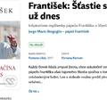 Titulní strana knihy František: Šťastie sa začína už dnes