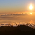 Západ slunce z Pico del  Teide 3718 m. n. m.