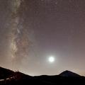 Mléčná dráha nad observatoří Teide