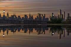 Manhattan, utopeny v mláke