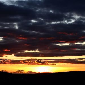 prvý marcový západ slnka