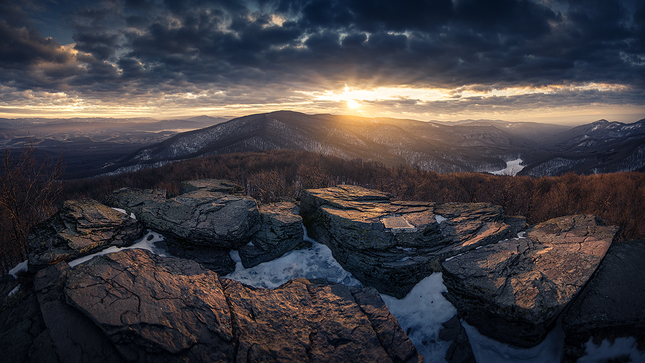 Východ slnka na Sninskom kameni
