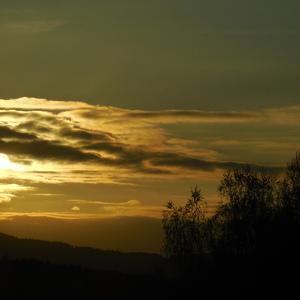 západ slunce duben 2013