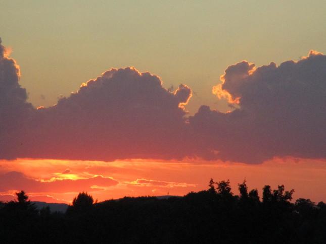 západ slunce červenec 2016