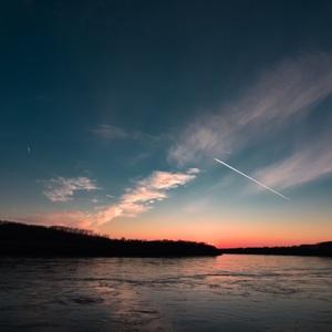 Západ slnka pocit slobody