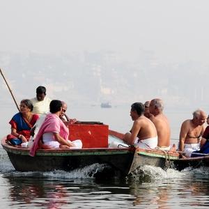 Na řece Ganze ve městě Váranásí