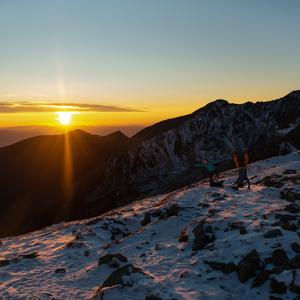 Západ slnka na hrebeni Roháčov