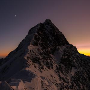 Západ slnka na Ľadovom štíte