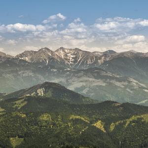 Choč, výhľad na Tatry