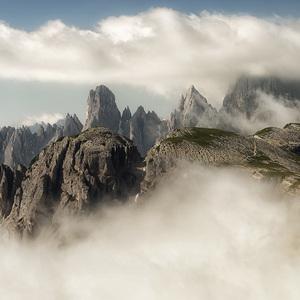 Ráno v Dolomitoch