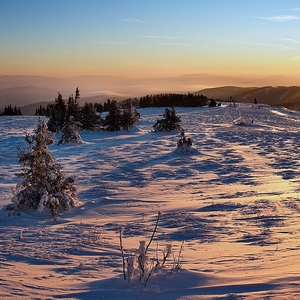 Kojšovská hoľa - východ slnka