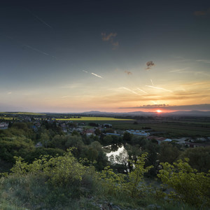 Západ slnka, Krásno