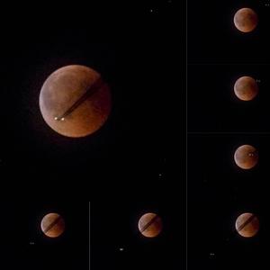 Zatmenie mesiaca s preletom