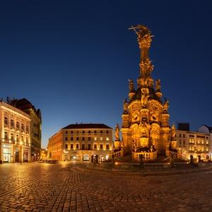 Modrá hodinka na Horním náměstí