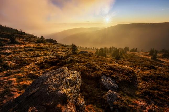 Podzimní večer na Červené hoře
