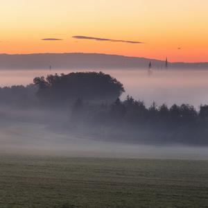 Olomouc v ranní mlze