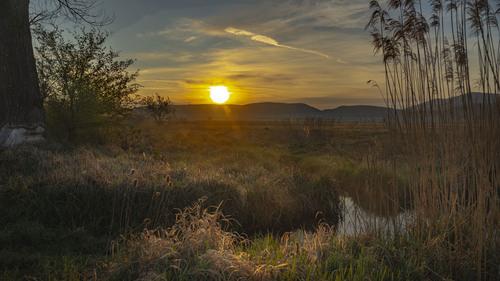 Východ slnka na Rudave