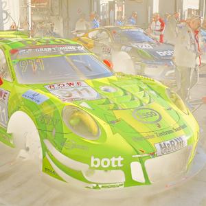 Porsche maľované