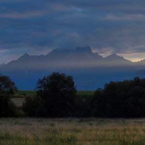 Západ slnka panorama