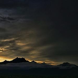 Západ slnka pod Tatrami