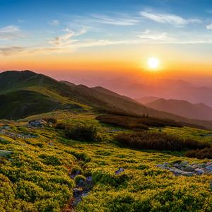 Západ slnka z Veľkého Kriváňa
