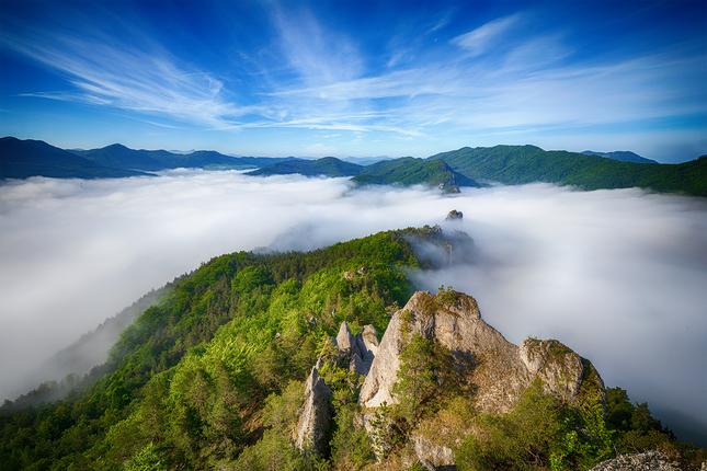 Ráno v Súľovských skalách