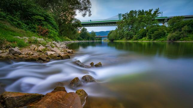 Večer pri rieke...