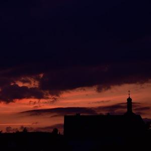 Západ slnka nad Kalváriou