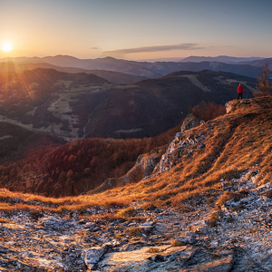 Západ slnka nad Kojšovom