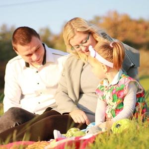 Rodinný jesenný piknik.