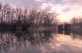 Chladné ráno pri Dunaji