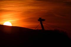 Zapad slnka za Ufom
