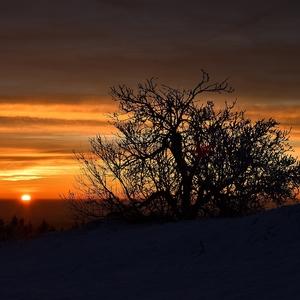 Západ slnka na Veľkej Javorine