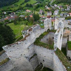 Pohled na zbytky věže