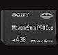 Memory Stick Duo s kapacitou 4 GB