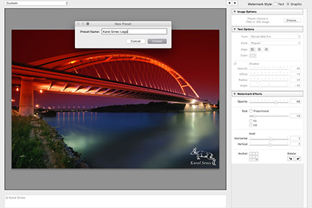 Adobe Lightroom CC - vodoznak