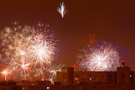 Novoročný ohňostroj 2016