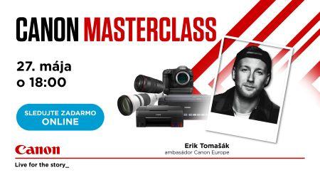 Canon Masterclass s ambasádorom Erikom Tomašákom