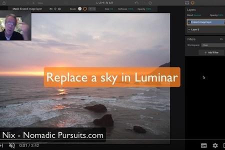 Replace a sky in Luminar
