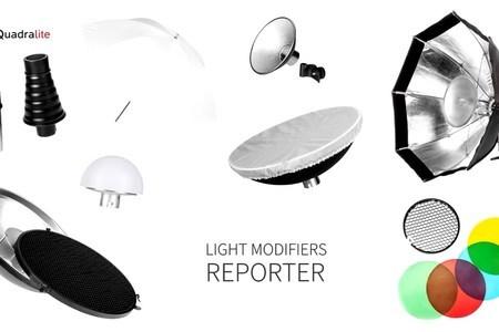 Quadralite Reporter Light Modifiers